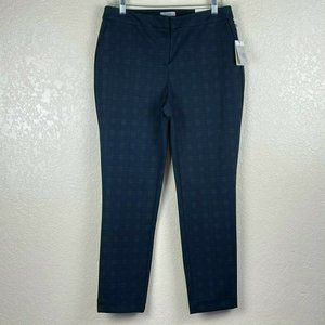 NWT Dalia Women's Plaid Skinny Dress Pants 10